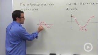 إيجاد معادلة جيب أو جيب التمام موجة