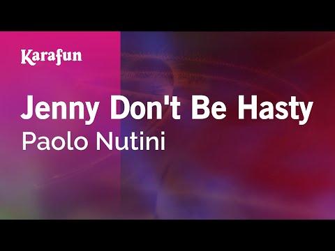 Karaoke Jenny Don't Be Hasty - Paolo Nutini *
