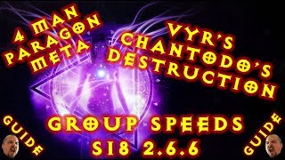 Diablo 3 S18 Wizard Vyrs + Chantodo Paragon Group Speeds Build 2.6.6