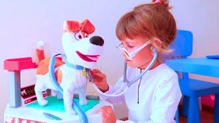 Клиника для животных Ариша играет в больницу Animal toy clinic