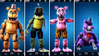 FNAF AR Withered Mediocre Melody Animatronics Jumpscare & Workshop Animations