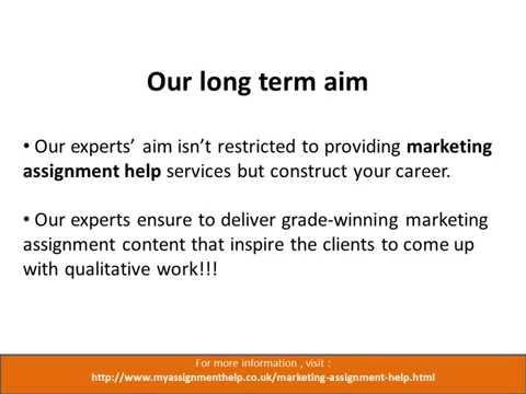 PPT: Marketing Assignment Help