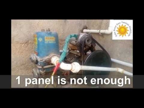 solar water pump for home Run Direct from Solar Panels without Battery in Urdu/Hindi