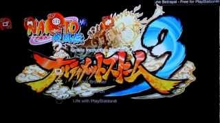Naruto Shippuden Ultimate Ninja Storm 3 Dynamic/Animated theme