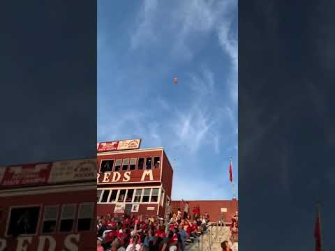 Watch skydivers parachute game ball into Hackley Stadium