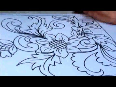 Inspirasi Keren Menggambar Bunga Ornamen Dengan Mudah Youtube