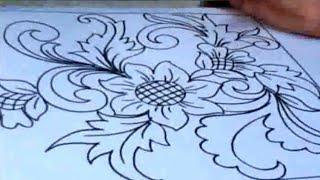 Inspirasi Keren!!! Menggambar Bunga Ornamen Dengan Mudah.