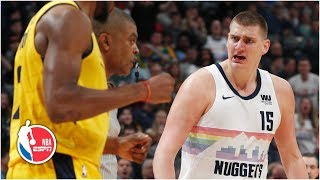 Nikola Jokic thrown out in 4th quarter after scoring 26 points   Pacers vs. Nuggets   NBA Highlights