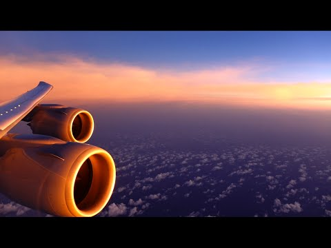 Lufthansa Boeing 747-8 - through a stunning sunset to a spectacular night landing in Mexico City
