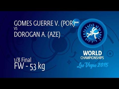 1/8 FW - 53 kg: A. DOROGAN (AZE) df. V. GOMES GUERRE (POR) by TF, 11-0