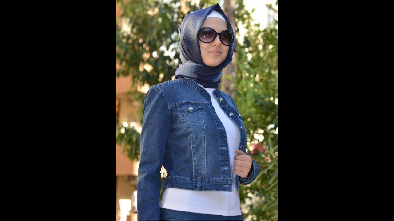 c4a1845b9 فساتين جينز للمحجبات روووعه تجنن - YouTube