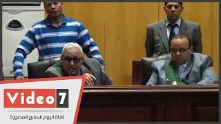 تأجيل محاكمة محمد بديع فى أحداث الإسماعيلية لجلسة الغد