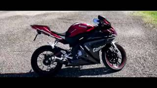 Yamaha YZF-R125 Mivv GP Exhaust Showcase & Sound Test + Fly By