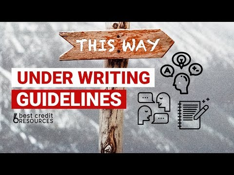 Funding Underwriting Guidelines - Finance Talk April 7th of 2018