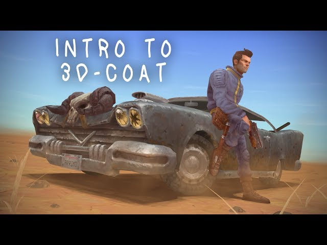 Fallout 2 Game art tutorial / commentary  -  05 Introduction to 3D-coat for handpainting