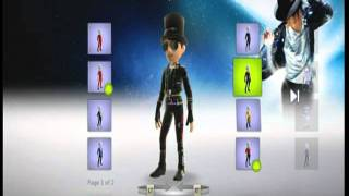Michael Jackson the Experience Xbox 360 Avatar clothes outfits Aug-27th, 2011