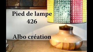 TOURNAGE PIED DE LAMPE CITRONNIER. 426