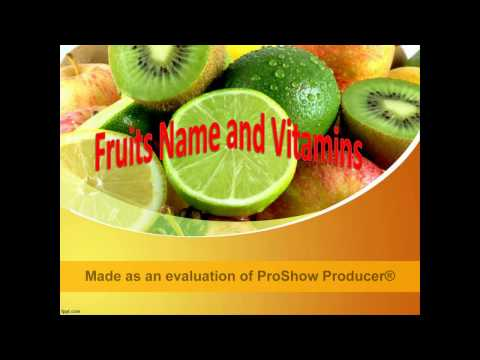 List of Fruits Name and Vitamins with images