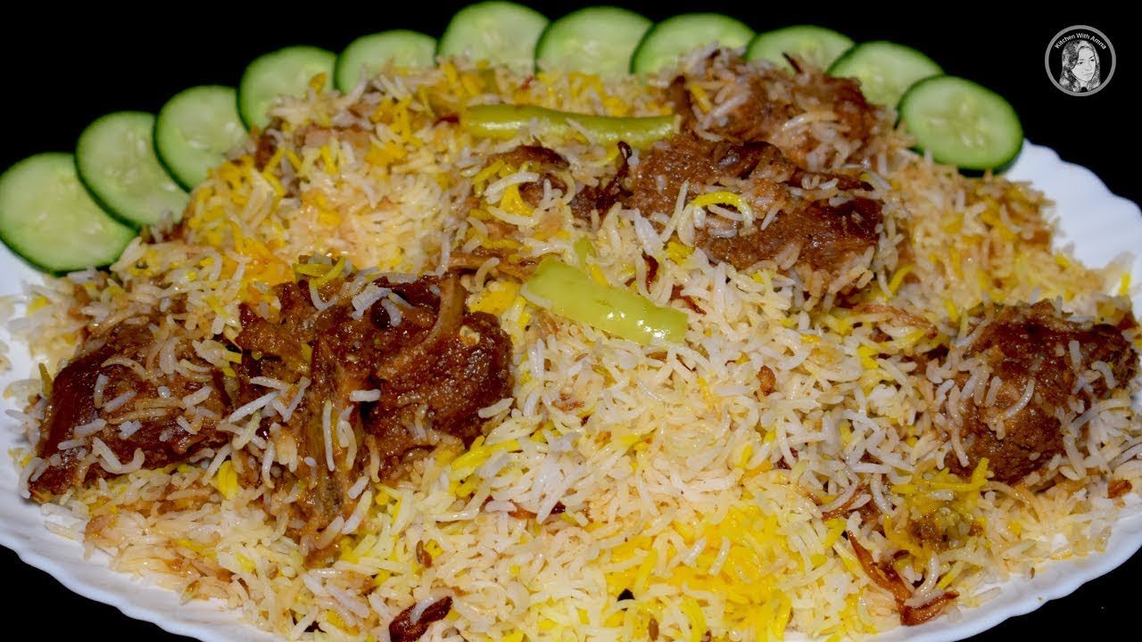 Mutton Biryani Recipe Easy Mutton Spicy Biryani By Kitchen With