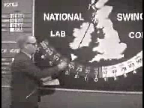 UK General Election 1966 - Election Results Coverage (Includes Swingometer)