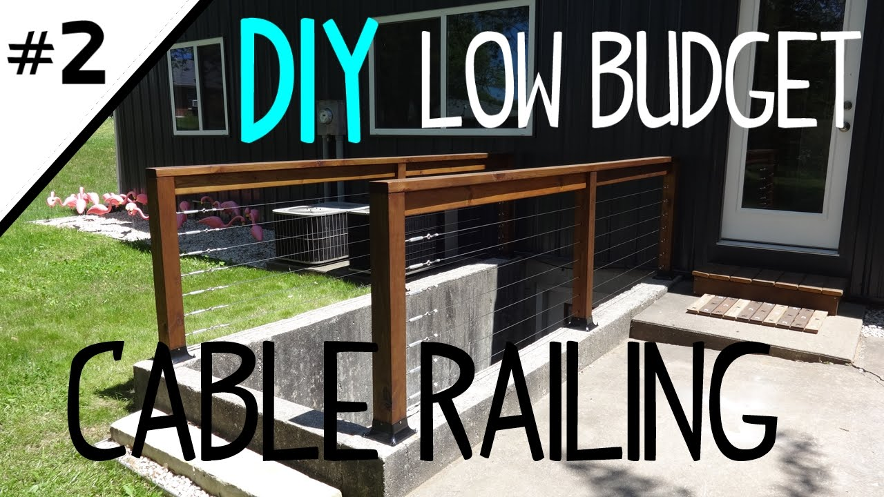 Build A Low Cost Cable Railing Part 2 Of 2 Youtube | Cable Stair Railing Diy