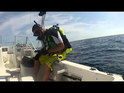 Shipwreck scuba diving off Panama City Beach GoPro2 [HD]