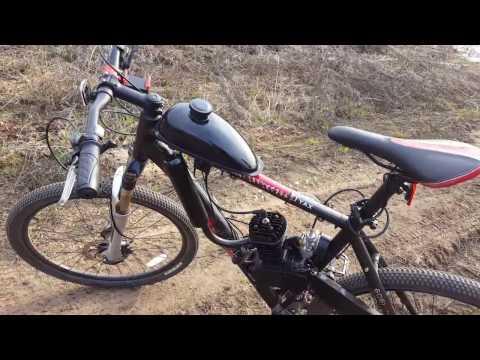 Особенности установки двигателя 80сс на кросс кантри велосипед Часть 1