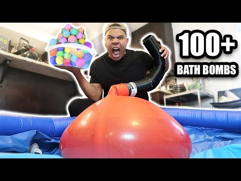 Thumbnail: GIANT 6FT WATER BALLOON 100 BATH BOMBS EXPERIMENT!! *EXPLOSION*