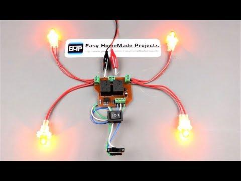 DIY Turn indicator Relay Circuit for HomeMade/Custom Vehicles