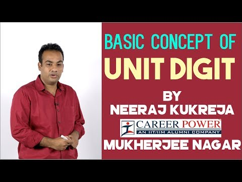 Basic Concept Of Unit Digit   Maths for SSC CGL 2017