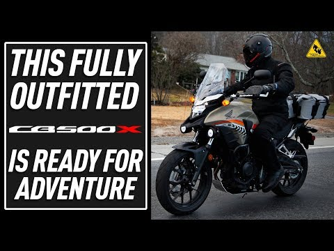 Outfitting the Honda CB500x For Adventure/Commuting   TwistedThrottle.com