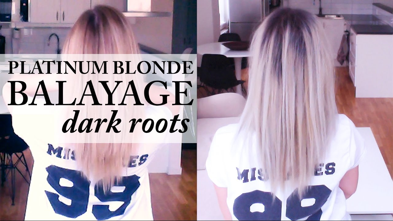 Silver Grey Hair With Dark Roots Balayage Hair Makeover Youtube