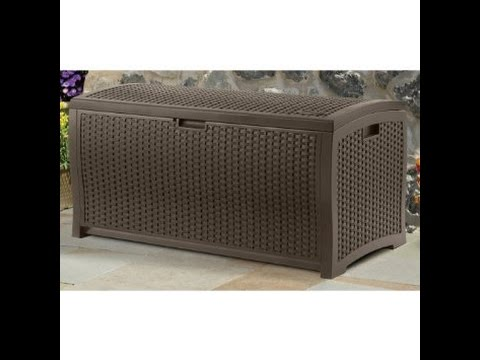 Beautiful Wood Look 150 Gallon Deck Box For Storage And