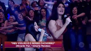 Tirullipa E Rodrigo Faro Interpretam Simone E Simaria No Dança Gatinho