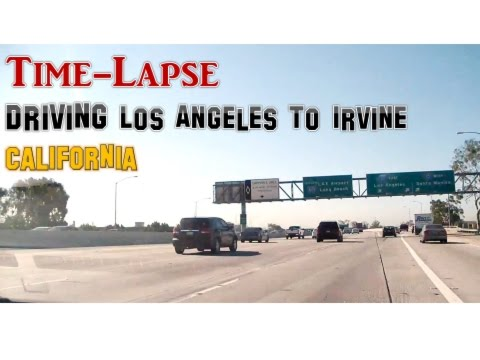 Driving Los Angeles to Irvine (California)_ Time Lapse