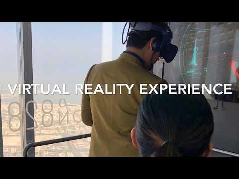 Virtual reality experience Top of Burj Khalifa Dubai/ www.globalduniya.ca