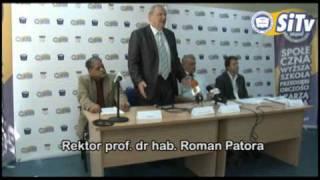 Studia bezpłatne w SWSPiZ - prof. dr hab. Roman Patora
