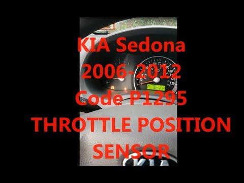2006-2012 KIA Sedona THROTTLE POSITION SENSOR Code P1295