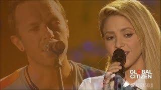 Coldplay - Yellow (Feat. Shakira) (Live Global Citizen Festival Hamburg 2017)