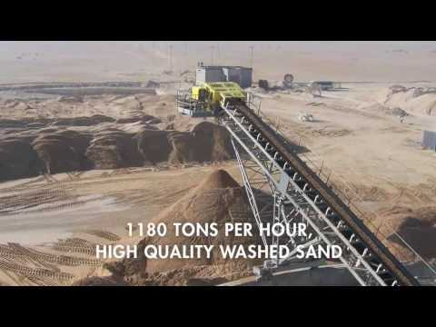 The largest sand washing plant in the world?