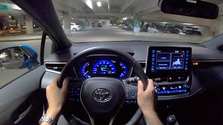 2019 Toyota Corolla XSE Hatchback (6-Speed Manual) - POV Night Drive (Binaural Audio)