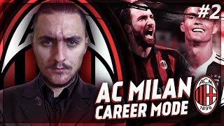 RONALDO VS BALE!! FIFA 19 AC MILAN CAREER MODE SHOW EP.2