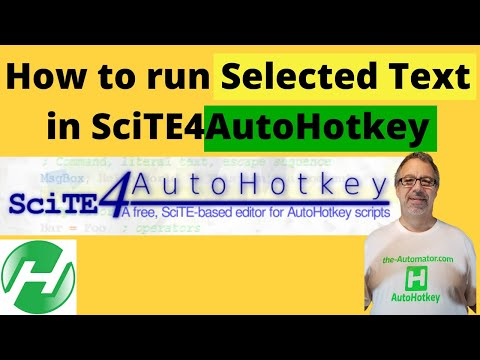 Run Selected Text in SciTE - YouTube