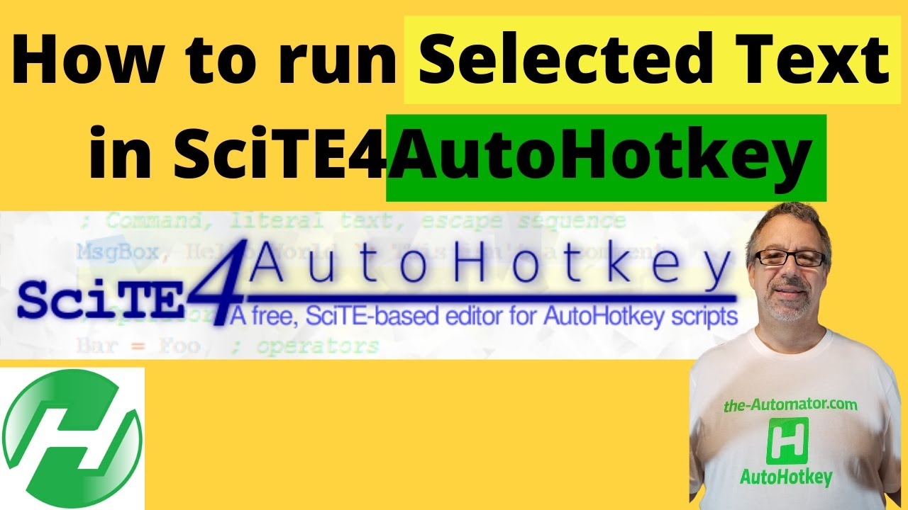Run Selected Text in SciTE