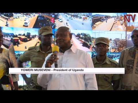 President Museveni launchehs CCTV control centre