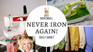 NEVER IRON AGAIN - REVIEW - INCREDIBALL-LAUNDRY DRYER BALLS