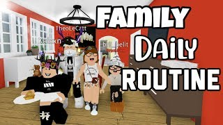 Family Daily Routine l Roblox BLOXBURG