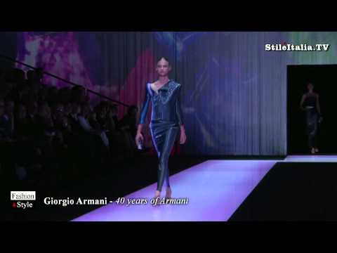 """Italian Fashion""  - 40 Years of Armani - ""Giorgio Amani"" -  ""Italian Excellence"""