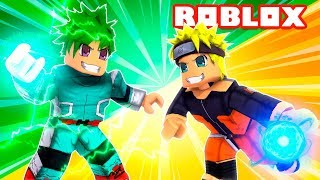 NARUTO vs DEKU (MY HERO ACADEMIA) Tycoon Anime Roblox