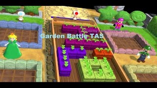 Mario Party 9 - Garden Battle [TAS] Featuring SuperWiiUGamer 2500